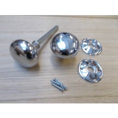 Rim Knob set Cottage Polished Chrome