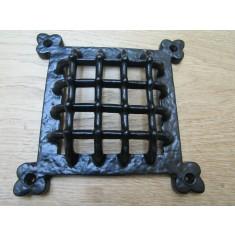 "6"" Gothic Medieval Grille Cover Black Antique"