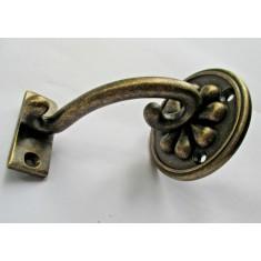 Steel decorative fancy handrail bracket Antique Brass