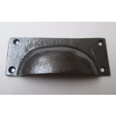 Small Plain Rectangular Cup Handle Antique Iron