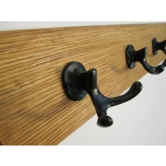 Black Antique Small Antler Coat Hook Rail