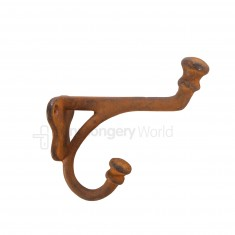 Balmoral Coat Hook Rust