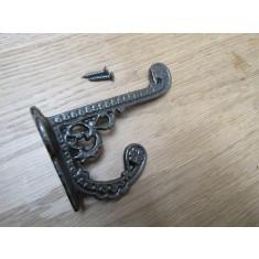 Pack Of 5 Basildon Coat Hooks Antique Iron