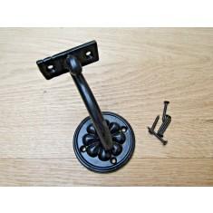 Cast Iron Fancy decorative handrail bracket Black Antique