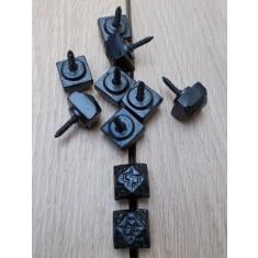 Pack of 10 door studs Beaten/Hammered Black Antique