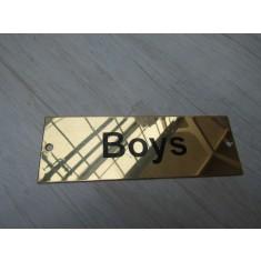 Rectangular Brass Boys Door Sign