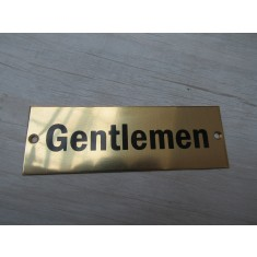 Rectangular Brass Gentlemen Door Sign