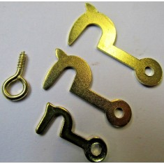 Pack of 50 Brass Side Hooks small