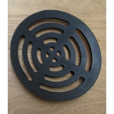 """Rustic Cast Iron Gulley Gutter Lid Round Black 7"""""""