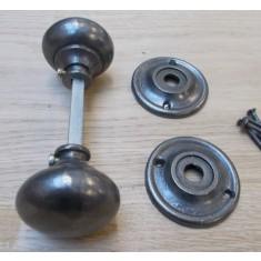 Rim door knob set Cottage Antique Iron