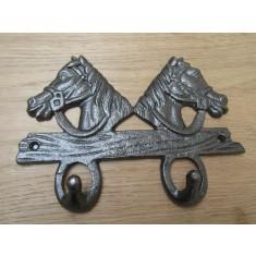 Double Horse Head Hook Rail
