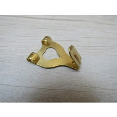 Pack of 10 Double Picture Hooks Brass