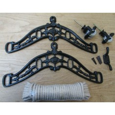 Edwardian Black Antique Clothes Airer Kit Only