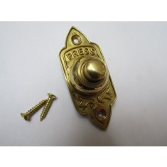 Edwardian Bell Push Polished Brass