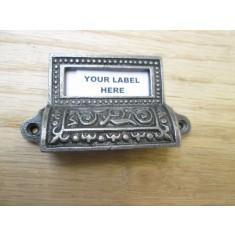 Edwardian Filing Cabinet Card Holder