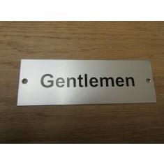 Rectangular Satin Aluminium Gentlemen Door Sign