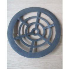 """Rustic Cast Iron Gulley Gutter Lid Round Black 8"""""""