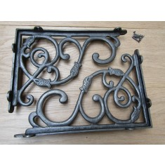 Pair Of Large Heavy Dutch Shelf Brackets Antique Iron