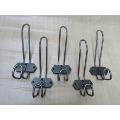 Pack Of 5 Numbered Wire Industrial School Coat Hooks