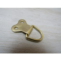 Pack of 20 D Rings Large Double Brass Gold