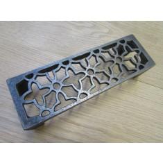 Floral Metric Air Brick Antique Iron