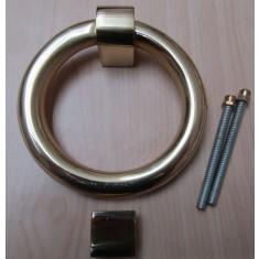 Modern Ring Door Knocker Polished Brass