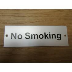 Rectangular Satin Aluminium No Smoking Door Sign