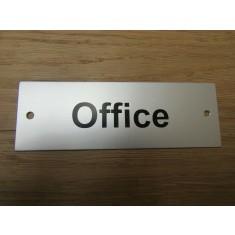 Rectangular Satin Aluminium Office Door Sign