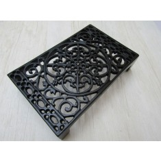 "9"" x 6"" Ornate Decorative Air Brick Black Antique"
