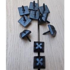 Pack of 10 Door Studs Ornate Decorative Black Antique