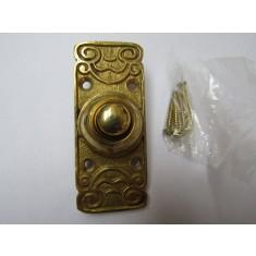 Ornate Bell Push Polished Brass