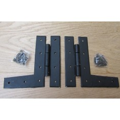 """Pair Of 6"""" Hand Forged Plain H L Hinges"""