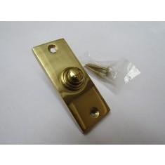 Plain Victorian Slim Bell Push Polished Brass