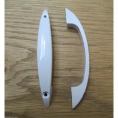 """Pair Of 4"""" White Plastic Retro Handles"""