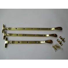 "Polished Brass Casement Stay Arm 10"""