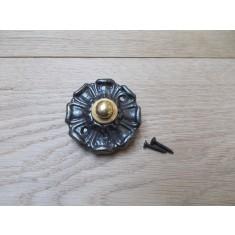 Poppy Small Bell Push Antique Iron
