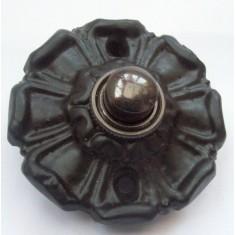 Poppy Small Bell Push Black Antique