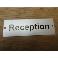 Rectangular Satin Aluminium Reception Door Sign