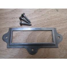 Small Retro Filing Cabinet Card Holder antique iron