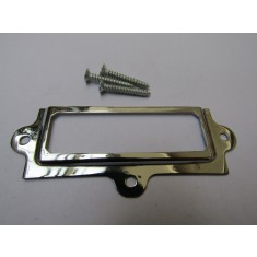 Small Retro Filing Cabinet Card Holder polished chrome