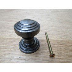 Rimmed with Backplate Cabinet Knob Antique Iron