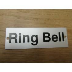 Rectangular Satin Aluminium Ring Bell Door Sign
