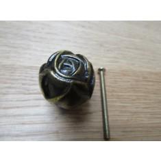 Rose Cabinet Knob Antique Brass