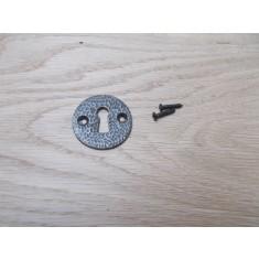 Round Open Escutcheon Antique Iron