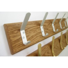 Satin Aluminium Cloakroom Coat Hook Rail