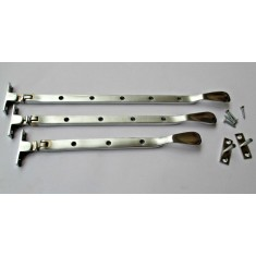 """Satin Brushed Chrome Casement Stay Arm 12"""""""