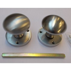Mortice Door knob Satin Chrome Round Mushroom