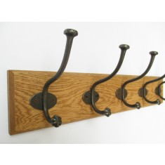 Antique Iron Shell Tip Coat Hook Rail
