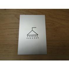 "6"" Satin Aluminium Shower Door Sign"