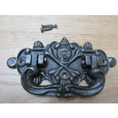 Skull And Bones Chest Handle Antique Iron